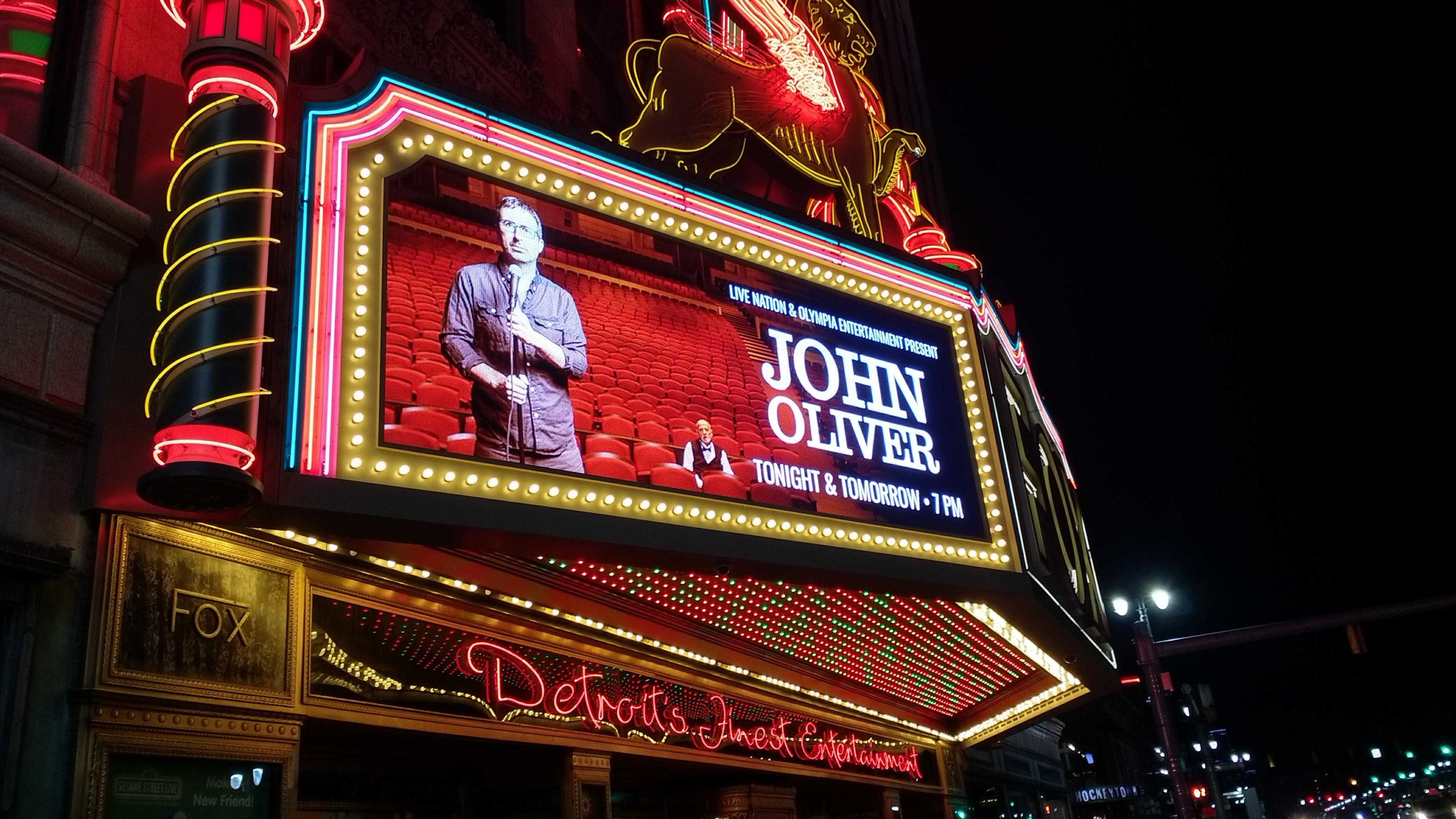 John Oliver in Detroit