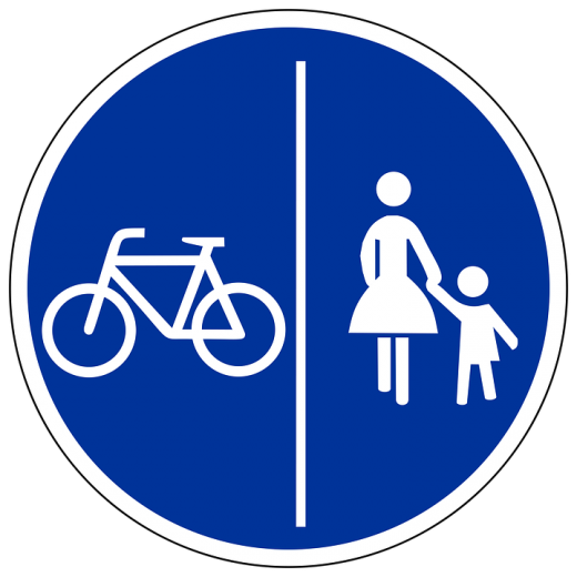 bike cycling foot pedestrian